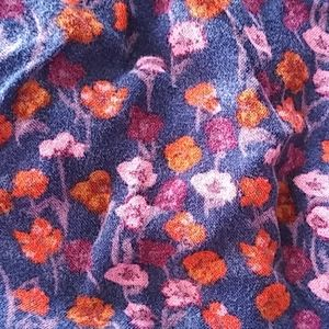 Mossimo Supply Co. Skirts - Cute dark blue skirt with wild flowers 💐